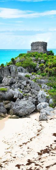 ?Viva Mexico! Panoramic Collection - Tulum Ruins along Caribbean Coastline-Philippe Hugonnard-Photographic Print