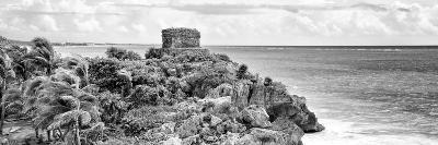 ¡Viva Mexico! Panoramic Collection - Tulum Ruins B&W-Philippe Hugonnard-Photographic Print