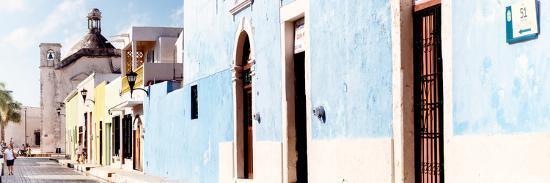 ¡Viva Mexico! Panoramic Collection - Urban Scene Campeche IV-Philippe Hugonnard-Photographic Print