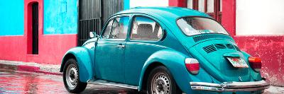 ¡Viva Mexico! Panoramic Collection - VW Beetle and Turquoise Wall-Philippe Hugonnard-Photographic Print