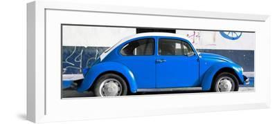 ¡Viva Mexico! Panoramic Collection - VW Beetle Blue-Philippe Hugonnard-Framed Photographic Print