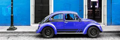 ¡Viva Mexico! Panoramic Collection - VW Beetle Car - Blue & Purple-Philippe Hugonnard-Photographic Print