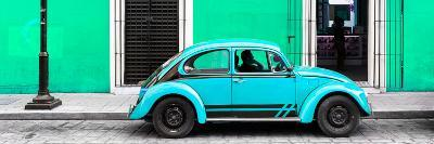 ¡Viva Mexico! Panoramic Collection - VW Beetle Car - Coral Green & Turquoise-Philippe Hugonnard-Photographic Print