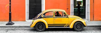 ¡Viva Mexico! Panoramic Collection - VW Beetle Car - Orange & Gold-Philippe Hugonnard-Photographic Print