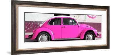 ¡Viva Mexico! Panoramic Collection - VW Beetle Deep Pink-Philippe Hugonnard-Framed Photographic Print