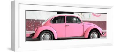 ¡Viva Mexico! Panoramic Collection - VW Beetle Light Pink-Philippe Hugonnard-Framed Photographic Print
