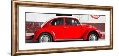 ¡Viva Mexico! Panoramic Collection - VW Beetle Red-Philippe Hugonnard-Framed Photographic Print