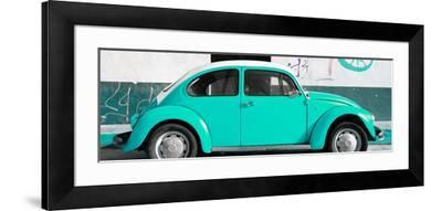 ¡Viva Mexico! Panoramic Collection - VW Beetle Turquoise-Philippe Hugonnard-Framed Photographic Print