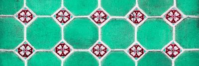 ¡Viva Mexico! Panoramic Collection - Wall of Green Mosaics-Philippe Hugonnard-Photographic Print