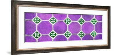 ¡Viva Mexico! Panoramic Collection - Wall of Purple Mosaics-Philippe Hugonnard-Framed Photographic Print