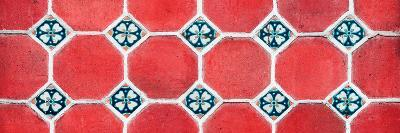 ¡Viva Mexico! Panoramic Collection - Wall of Red Mosaics-Philippe Hugonnard-Photographic Print