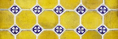 ¡Viva Mexico! Panoramic Collection - Wall of Yellow Mosaics-Philippe Hugonnard-Photographic Print