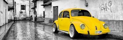 ¡Viva Mexico! Panoramic Collection - Yellow VW Beetle Car in San Cristobal de Las Casas-Philippe Hugonnard-Photographic Print