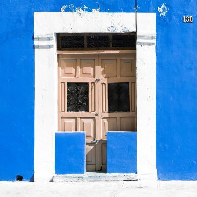 """¡Viva Mexico! Square Collection - """"130 Street"""" Blue Wall-Philippe Hugonnard-Photographic Print"""