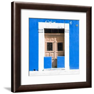 """¡Viva Mexico! Square Collection - """"130 Street"""" Blue Wall-Philippe Hugonnard-Framed Photographic Print"""