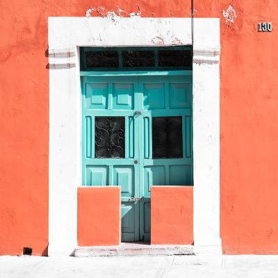 """¡Viva Mexico! Square Collection - """"130 Street"""" Coral Wall-Philippe Hugonnard-Photographic Print"""