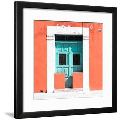 """¡Viva Mexico! Square Collection - """"130 Street"""" Coral Wall-Philippe Hugonnard-Framed Photographic Print"""