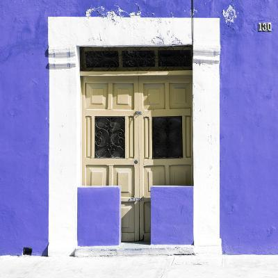"¡Viva Mexico! Square Collection - ""130 Street"" Purple Wall-Philippe Hugonnard-Photographic Print"