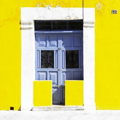 """¡Viva Mexico! Square Collection - """"130 Street"""" Yellow Wall-Philippe Hugonnard-Photographic Print"""