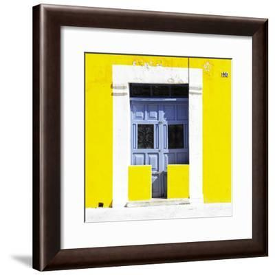 """¡Viva Mexico! Square Collection - """"130 Street"""" Yellow Wall-Philippe Hugonnard-Framed Photographic Print"""