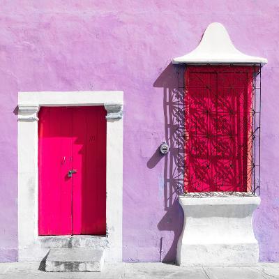 "¡Viva Mexico! Square Collection - ""172 Street"" Deep Pink & Mauve-Philippe Hugonnard-Photographic Print"