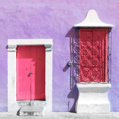 "¡Viva Mexico! Square Collection - ""172 Street"" Pink & Mauve-Philippe Hugonnard-Photographic Print"