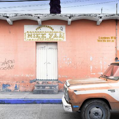 """¡Viva Mexico! Square Collection - """"5 de febrero"""" Coral Wall-Philippe Hugonnard-Photographic Print"""