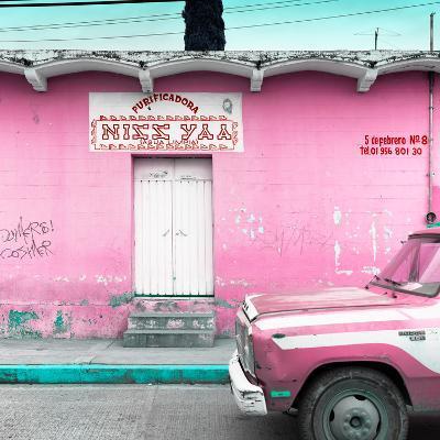 "¡Viva Mexico! Square Collection - ""5 de febrero"" Pink Wall-Philippe Hugonnard-Photographic Print"