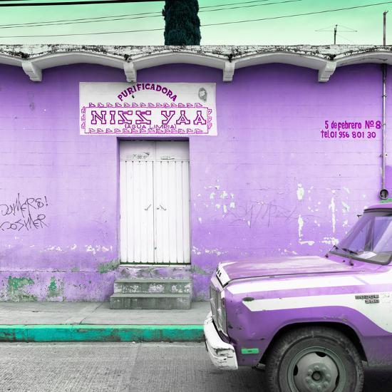 """¡Viva Mexico! Square Collection - """"5 de febrero"""" Purple Wall-Philippe Hugonnard-Photographic Print"""