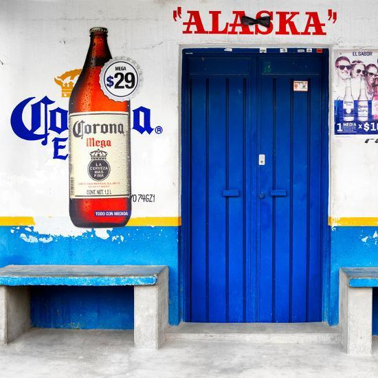 "¡Viva Mexico! Square Collection - ""ALASKA"" Blue Bar-Philippe Hugonnard-Photographic Print"