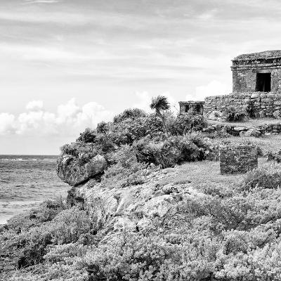 ¡Viva Mexico! Square Collection - Ancient Mayan Fortress in Riviera Maya II - Tulum-Philippe Hugonnard-Photographic Print