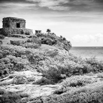 ¡Viva Mexico! Square Collection - Ancient Mayan Fortress in Riviera Maya V - Tulum-Philippe Hugonnard-Photographic Print