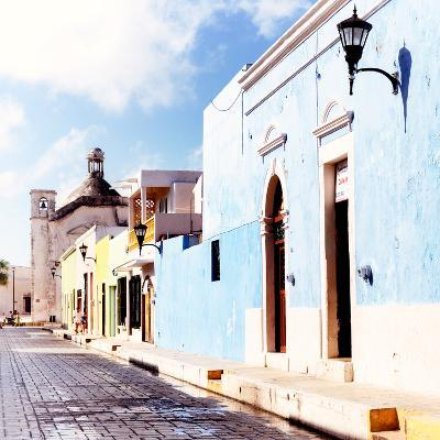¡Viva Mexico! Square Collection - Beautiful Colorful Street in Campeche V-Philippe Hugonnard-Photographic Print
