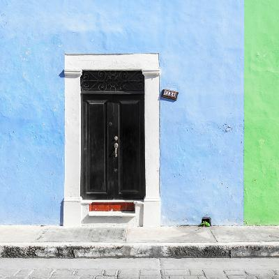 ¡Viva Mexico! Square Collection - Blue and Green Facade - Campeche-Philippe Hugonnard-Photographic Print