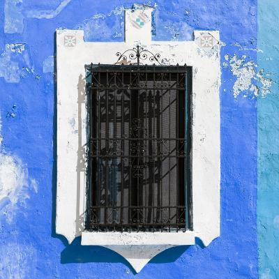 ¡Viva Mexico! Square Collection - Blue Wall & Black Window-Philippe Hugonnard-Photographic Print
