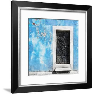 ¡Viva Mexico! Square Collection - Blue Wall of Silence-Philippe Hugonnard-Framed Photographic Print
