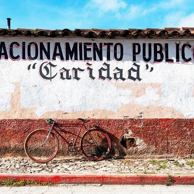 "¡Viva Mexico! Square Collection - ""Caridad"" Red Bike-Philippe Hugonnard-Photographic Print"