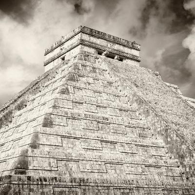 ¡Viva Mexico! Square Collection - Chichen Itza Pyramid X-Philippe Hugonnard-Photographic Print