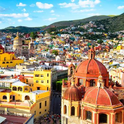 ¡Viva Mexico! Square Collection - Church Domes in Guanajuato II-Philippe Hugonnard-Photographic Print