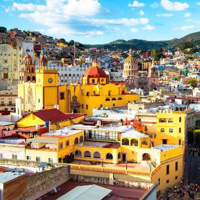 ¡Viva Mexico! Square Collection - Church Domes in Guanajuato-Philippe Hugonnard-Photographic Print