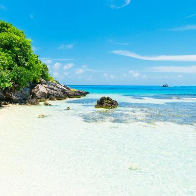 ¡Viva Mexico! Square Collection - Coastline Paradise in Isla Mujeres IV-Philippe Hugonnard-Photographic Print