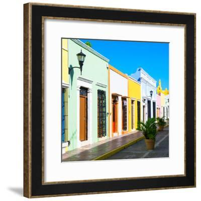 ¡Viva Mexico! Square Collection - Coloful Street V-Philippe Hugonnard-Framed Photographic Print