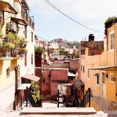 ¡Viva Mexico! Square Collection - Colorful Street in Guanajuato II-Philippe Hugonnard-Photographic Print