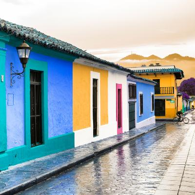 ¡Viva Mexico! Square Collection - Colorful Street in San Cristobal II-Philippe Hugonnard-Photographic Print