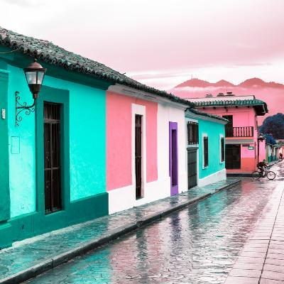 ¡Viva Mexico! Square Collection - Colorful Street in San Cristobal III-Philippe Hugonnard-Photographic Print