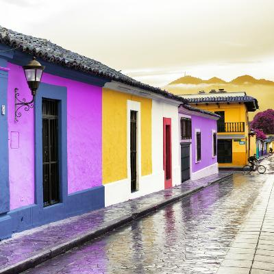 ¡Viva Mexico! Square Collection - Colorful Street in San Cristobal IV-Philippe Hugonnard-Photographic Print