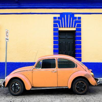 ¡Viva Mexico! Square Collection - Coral VW Beetle - San Cristobal-Philippe Hugonnard-Photographic Print