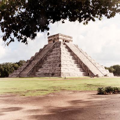 ¡Viva Mexico! Square Collection - El Castillo Pyramid - Chichen Itza II-Philippe Hugonnard-Photographic Print