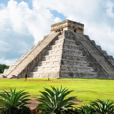 ¡Viva Mexico! Square Collection - El Castillo Pyramid - Chichen Itza III-Philippe Hugonnard-Photographic Print