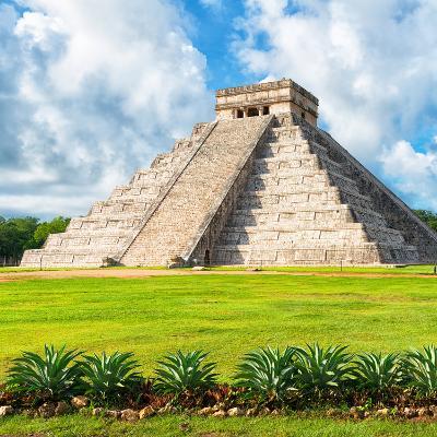 ?Viva Mexico! Square Collection - El Castillo Pyramid - Chichen Itza VIII-Philippe Hugonnard-Photographic Print
